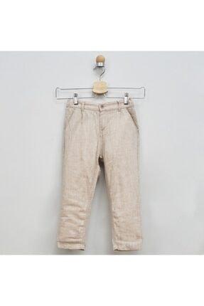 Panço Keten Pantolon Erkek Çocuk Bej