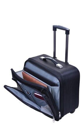 Çantaland Çekçekli Orta Boy Lüx Kasalı Siyah Pilot, Evrak, Laptop, Notebook Çantası