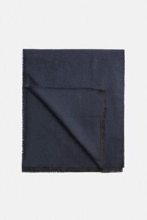 Avva Erkek Koyu Mavi Düz Şal A02y9409