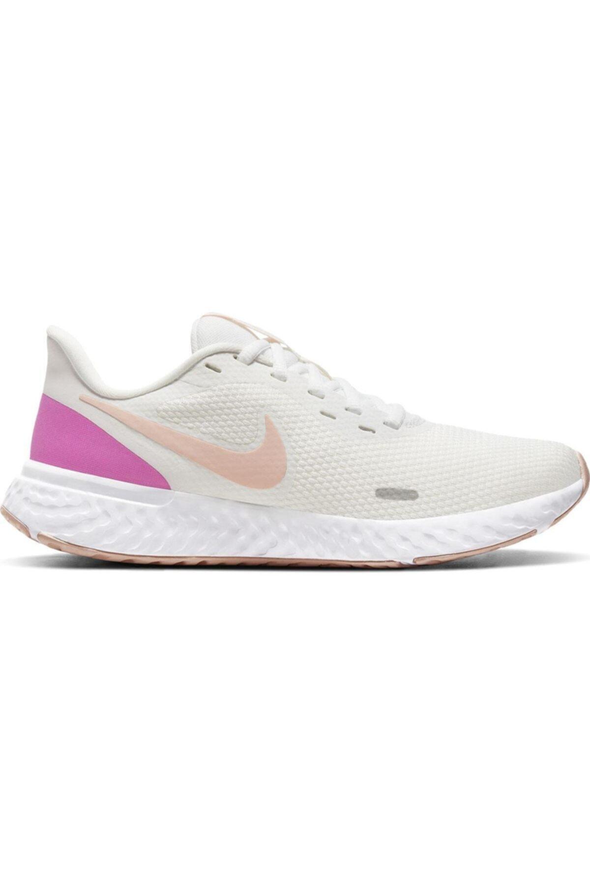 Nike Revolution 5 Kadın Beyaz Koşu Ayakkabısı Bq3207-103 1
