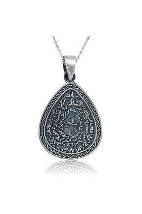 Gumush Gümüş Kıtmir Duası Damla Kolye