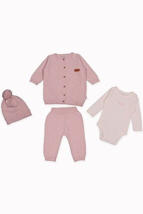 Pierre Cardin Baby Unisex Bebek Triko Set Pembe