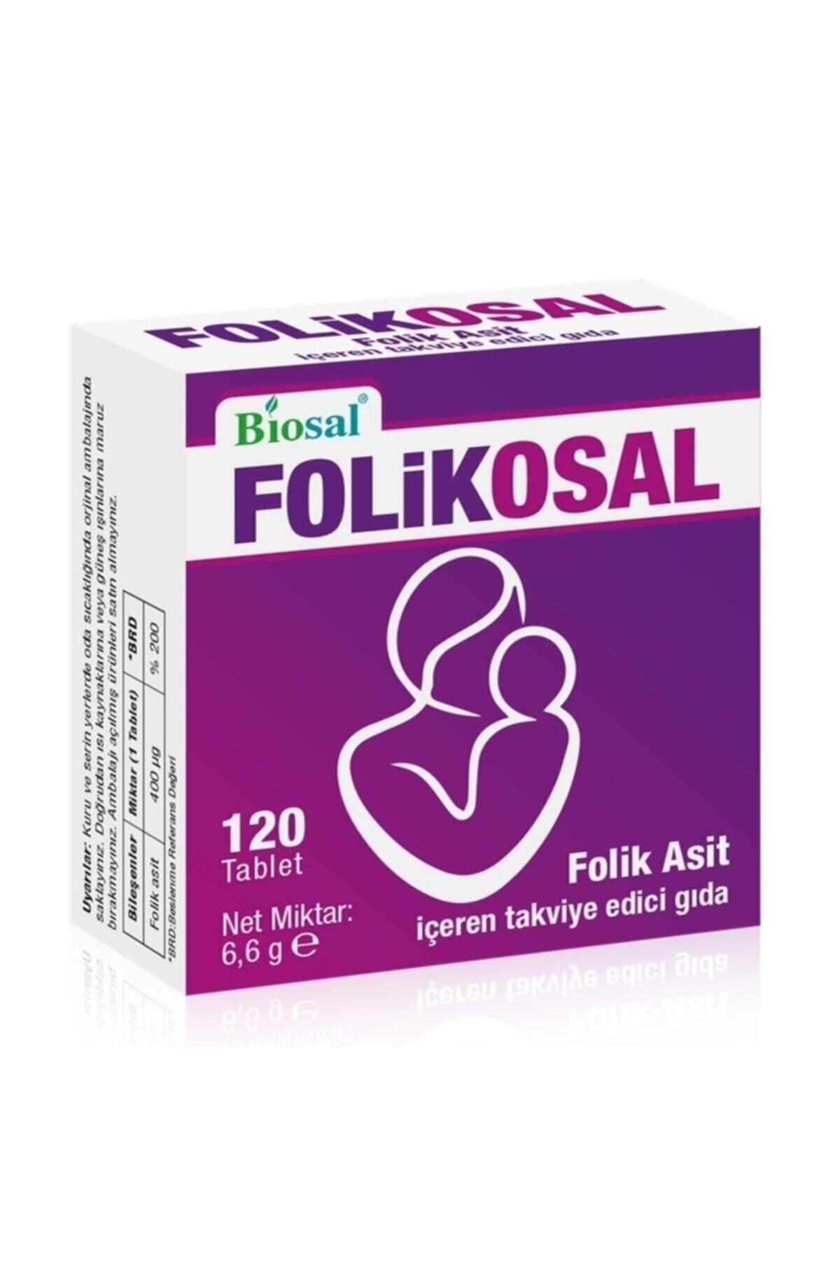 Biosal Folik Asit 400 Mcg 120 Tablet 1