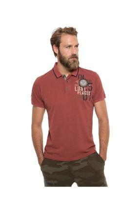Camp David Erkek Bordo Polo T-shirt