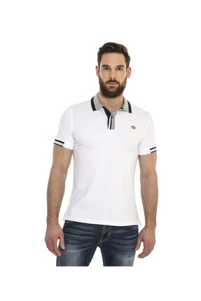 Camp David Erkek Polo Yaka Beyaz T-shirt