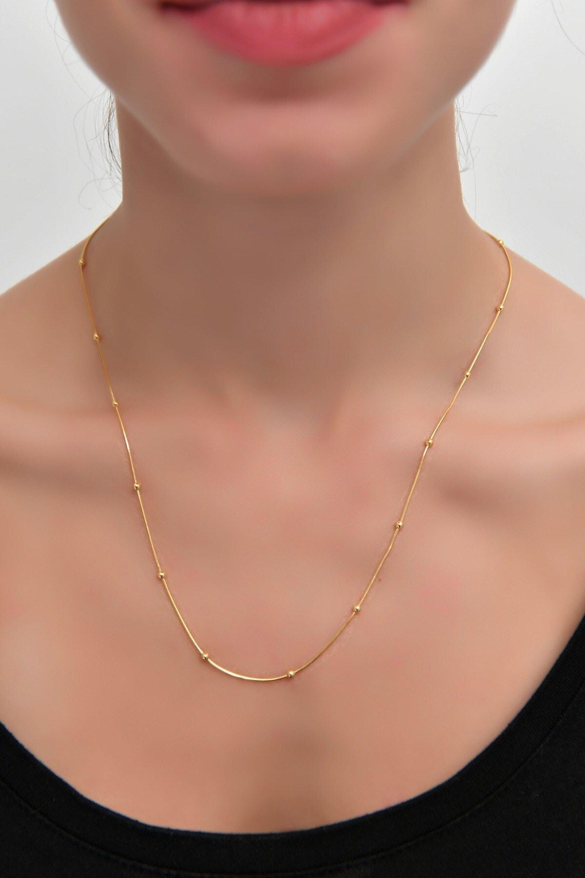 İn Dubai Silver Kadın Gold Toplu Gümüş Zincir Dbsk2033 1
