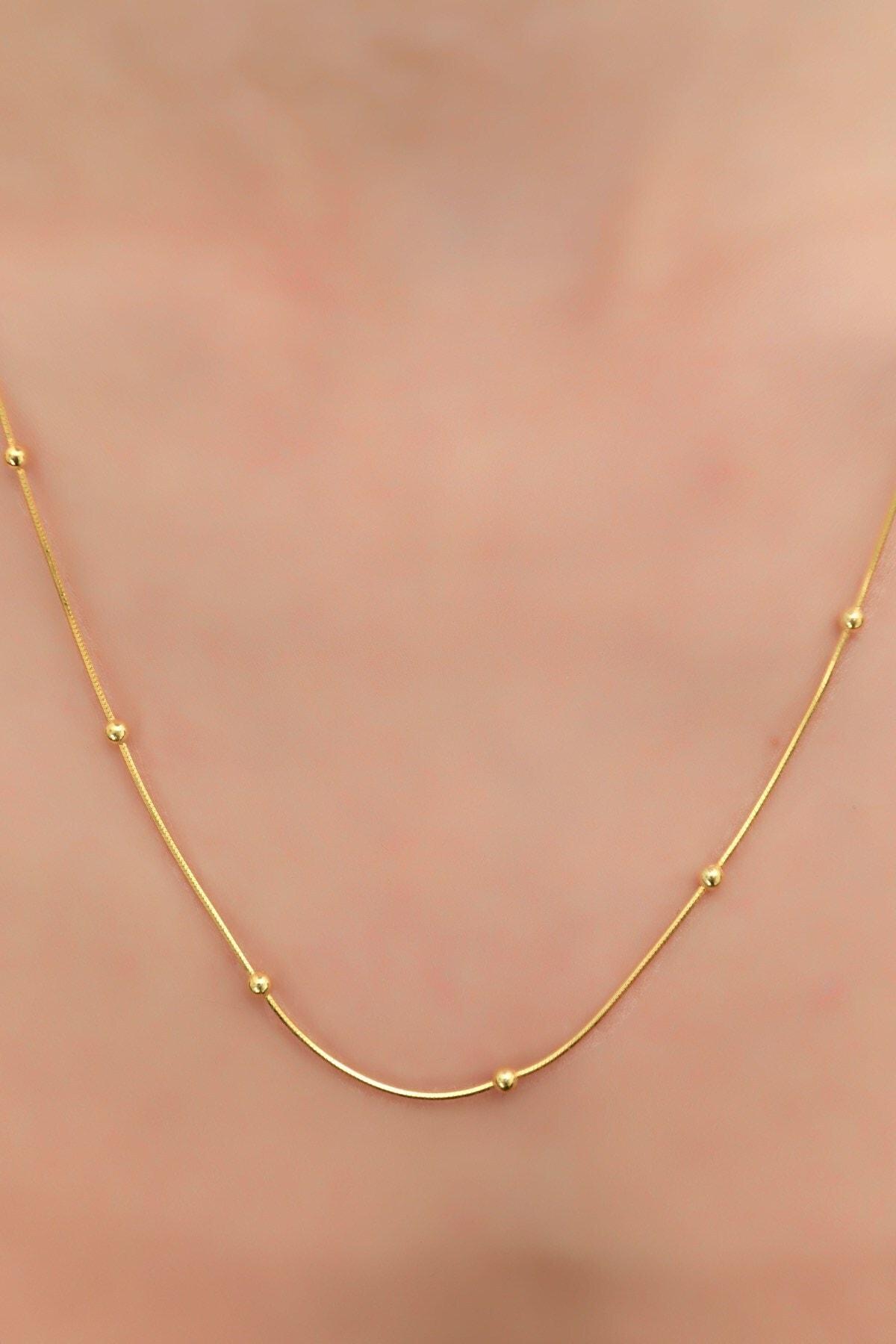 İn Dubai Silver Kadın Gold Toplu Gümüş Zincir Dbsk2033 2