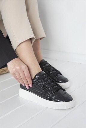 STRASWANS Kadın Rugan Spor Ayakkabı Siyah