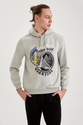 DeFacto Nba Lisanslı Slim Fit Kapüşonlu Sweatshirt