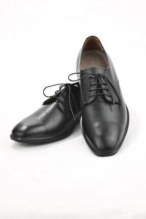 E CENGİZ Erkek Siyah   Hakiki Deri  Klasik Ayakkabı