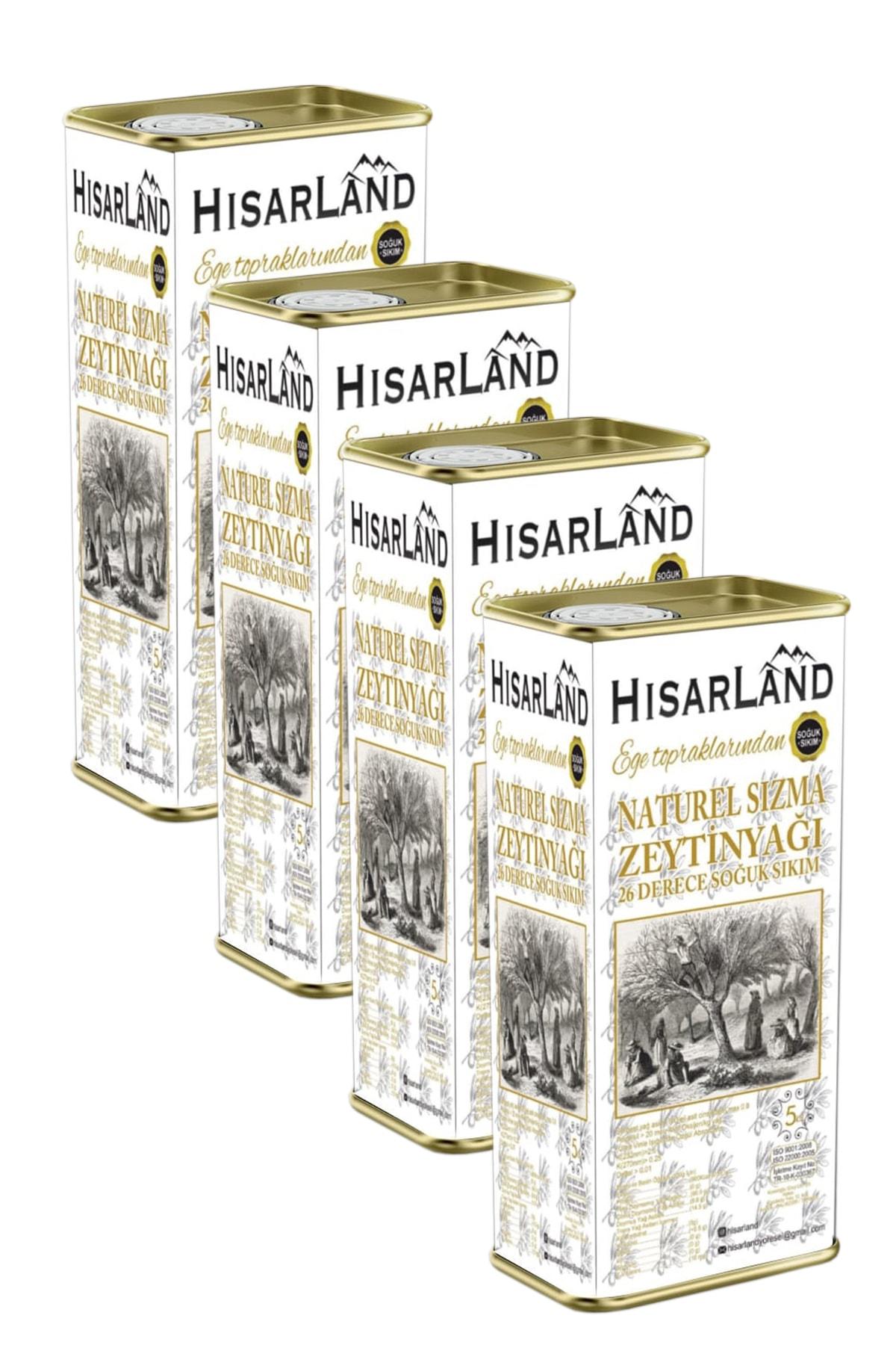 Hisarland Yeni Hasat Naturel Sızma Soğuk Sıkım Zeytinyağı 20 Lt. 1
