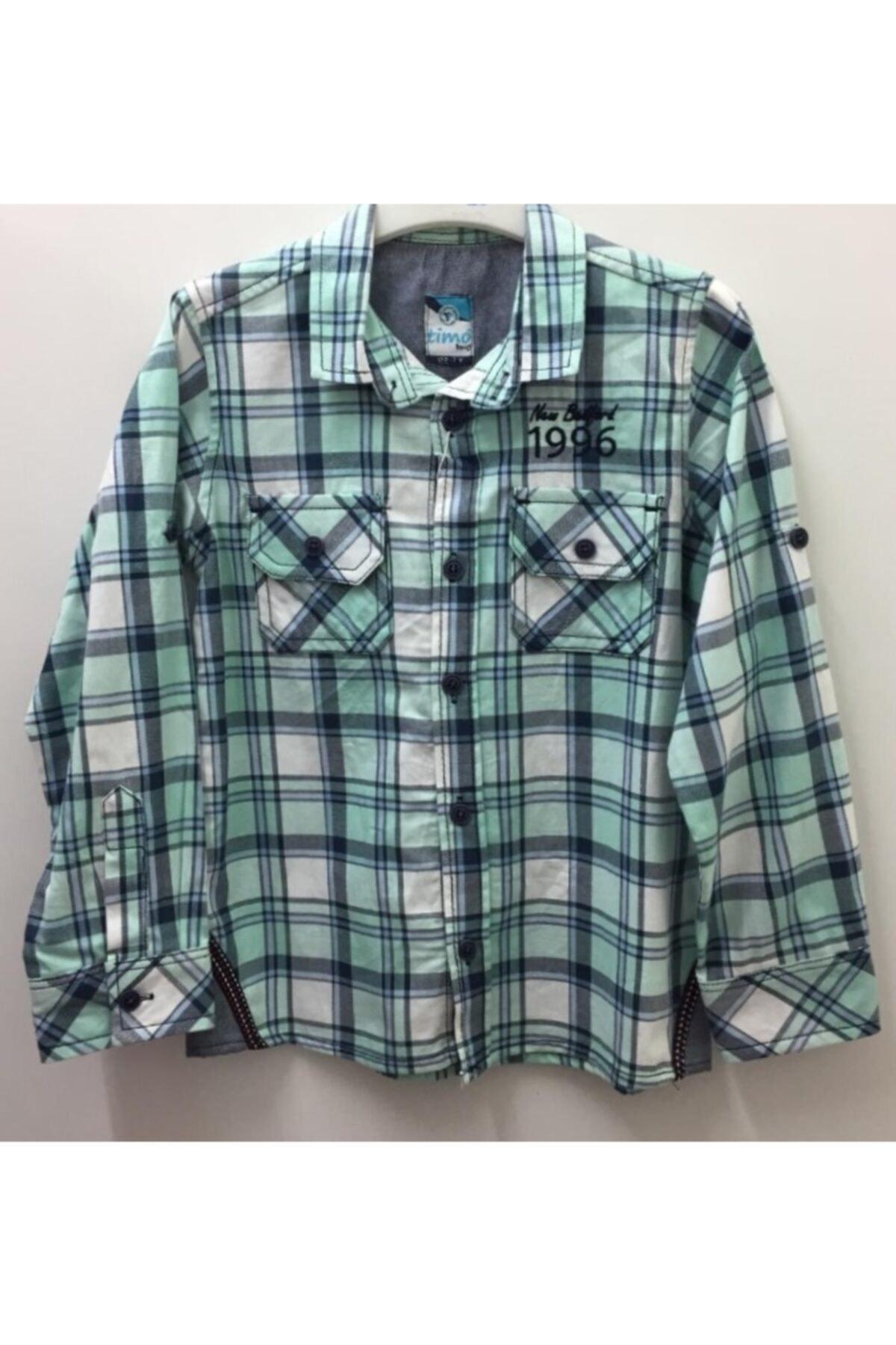 Timo Erkek Çocuk Yeşil Gömlek 1
