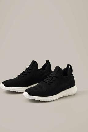 Oysho Kadın Siyah Bağcıklı Spor Ayakkabı