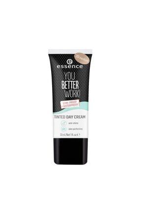 Essence Renkli Nemlendirici - You Better Work Tinted Day Cream  20 Medium 30 ml 4059729197726