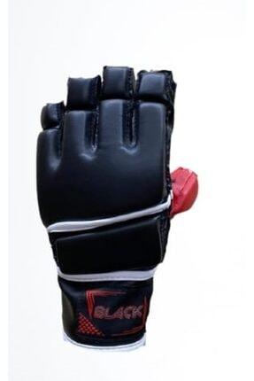 BLACK Mma Eldiveni Baş Parmak Korumalı Siyah Blk5560