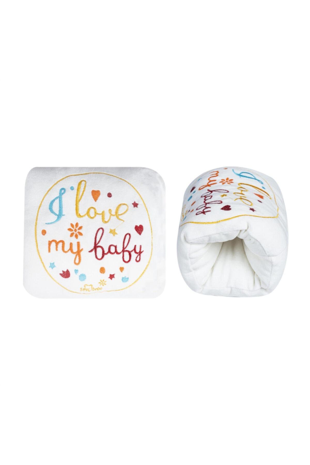 Sevi Bebe Nakışlı Lüks Emzirme Yastığı Art-271 Ekru 1