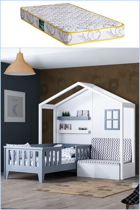 Setay Montessori Yatak, Çeşme Sedirli Montessori Yatak Antrasit + Comfort Yatak