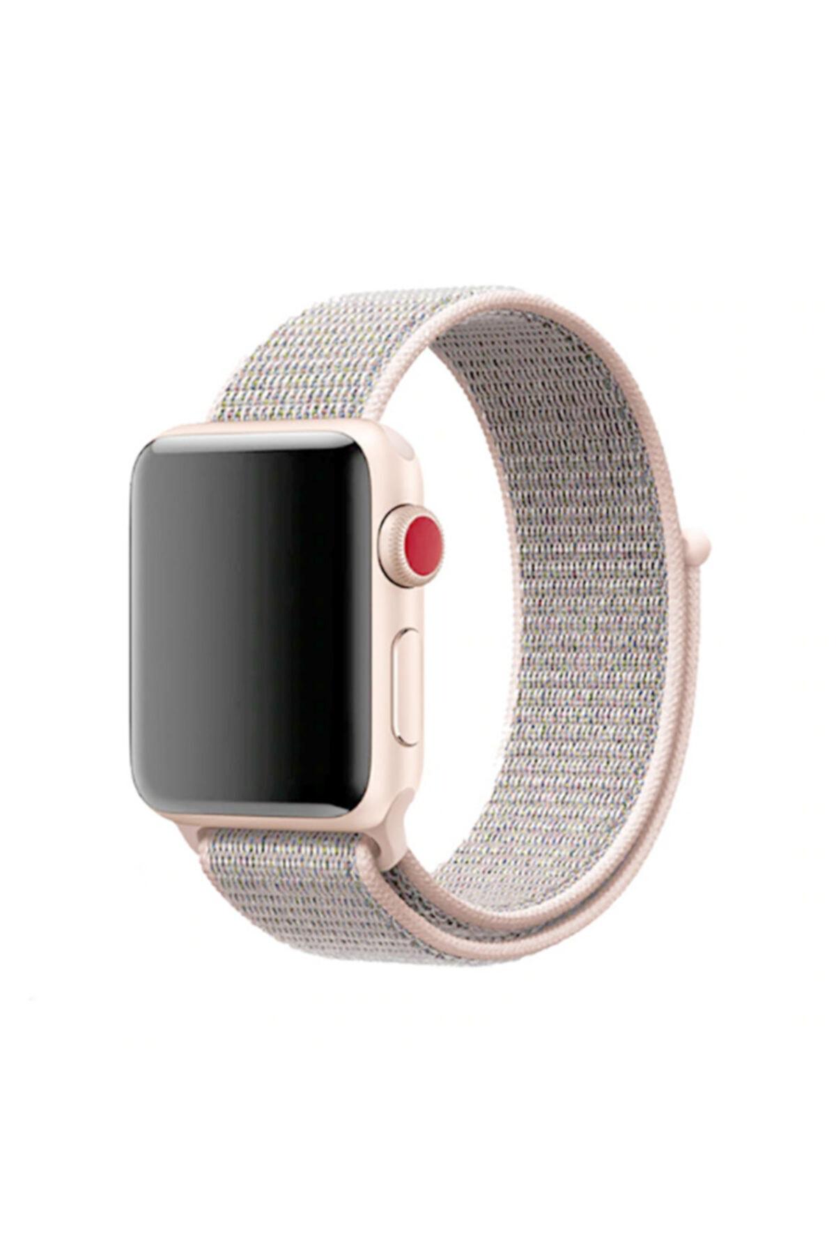 zore Apple Watch 38mm Krd-03 Hasır Kordon 5-pink Sand 1