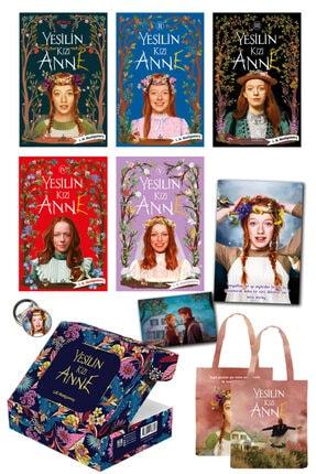 Ephesus Yayınları Yeşilin Kızı Anne Set 5 Kitap Kutulu Karton Kapak Özel Çanta Poster Kartpostal Ve Rozet