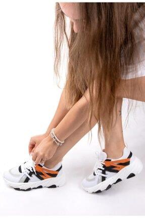 NAVYSIDE Kadın Yüksek Tabanlı Spor Ayakkabı Sneaker Yürüyüş Ayakkabısı