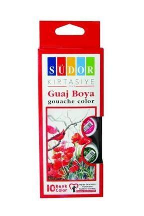 Südor Guaj Boya 10 Renk x 15 ml  Şişe