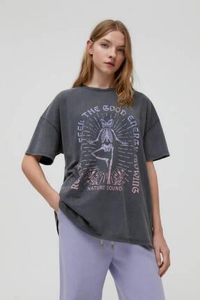 Pull & Bear Yoga Iskelet T-shirt