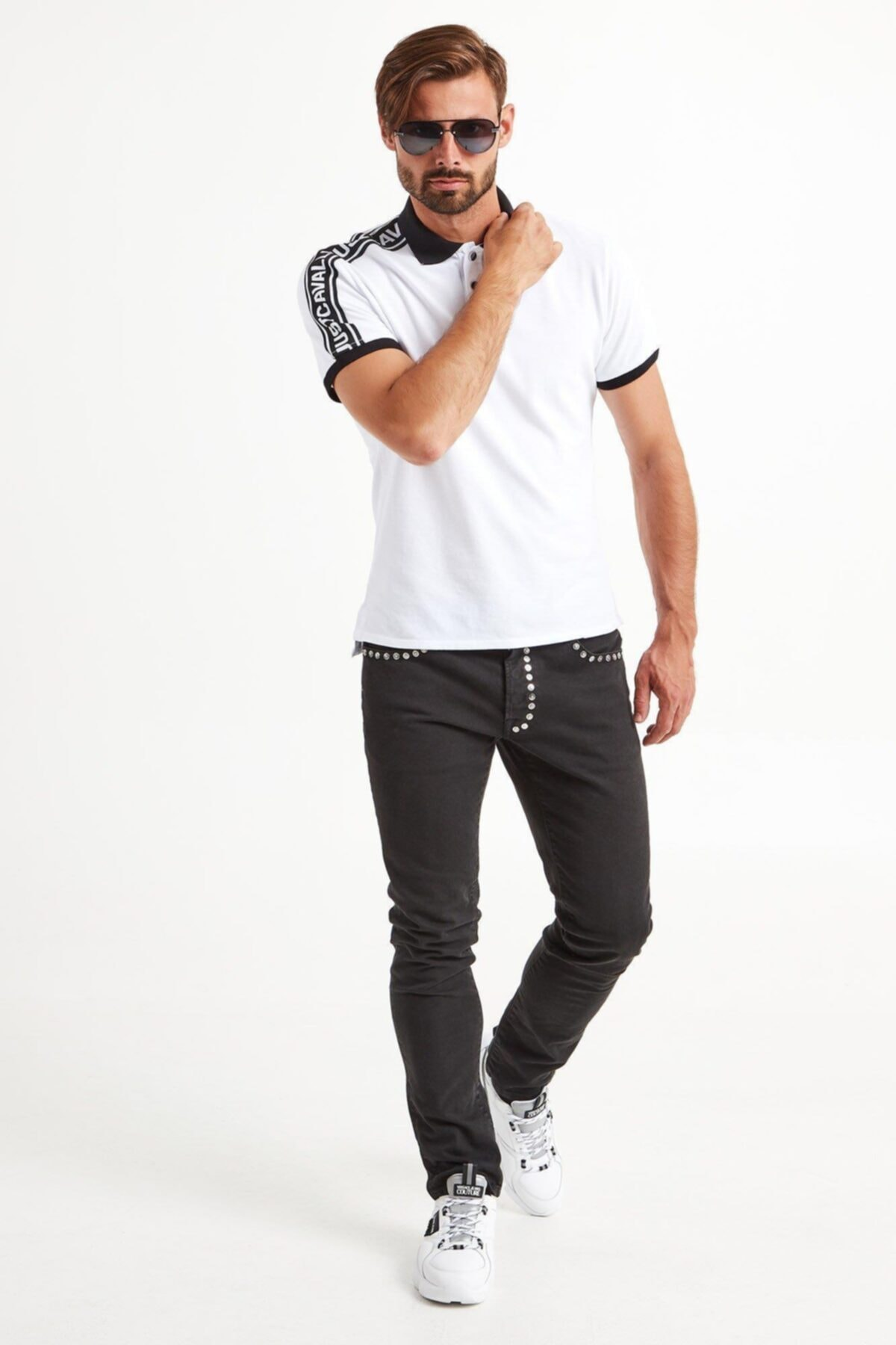 Just Cavalli Erkek Beyaz T-Shirt 1