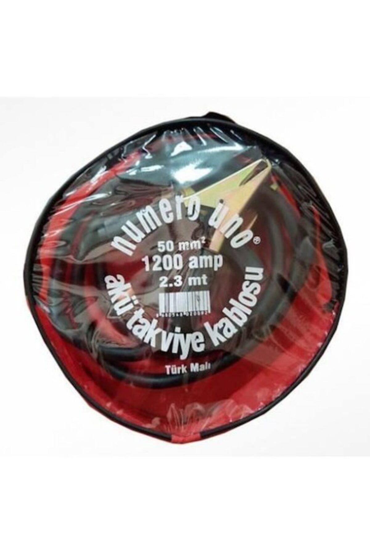 NUMEROUNO Akü Takviye Kablosu 50mm 1200 Amper 2.3 Metre Çantalı Numereuno 1