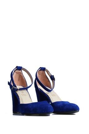 PUNTO Kadın  Mavi Süet Günlük Topuklu Ayakkabı 642437