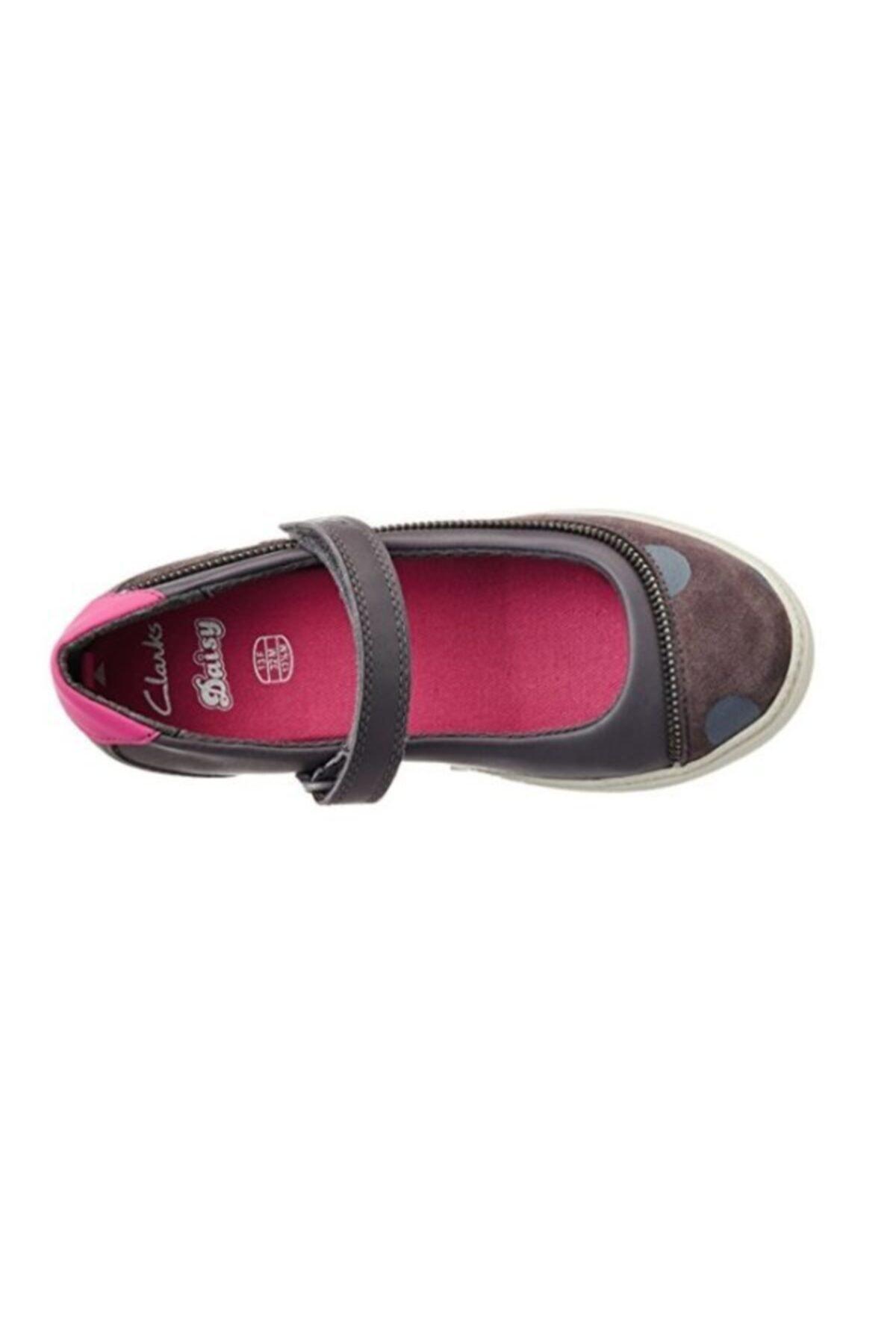 CLARKS Kız Çocuk Ayakkabı 2-6 Yaş Ortopedik Zita Grey Mary Jane Belly 1