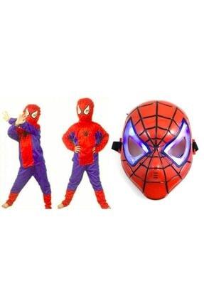 Hkostüm Örümcek Adam Kostümü 3-5 Yaş Ve Işıklı Maske