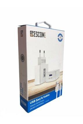 Escom Usb Micro 2.0 Amper 1 Metre Hızlı Şarj Kablosu