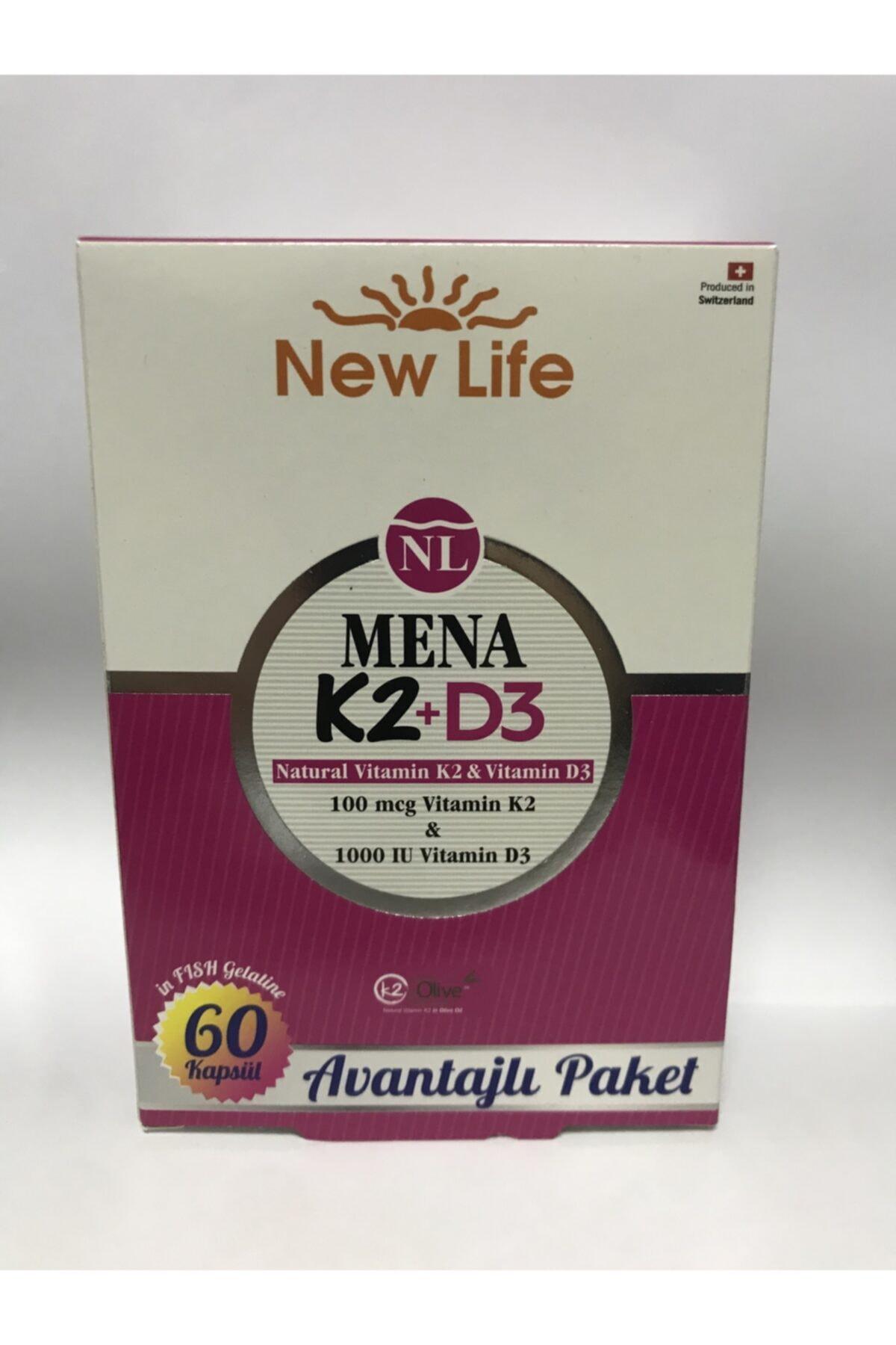 New Life Mena K2+d3 (100 Mcg K2 1000 Iu D3) 60 Kapsül 1