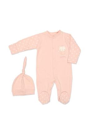Ciccim Baby Bebek Pembe Taçlı Kedi Patikli Tulum 4413