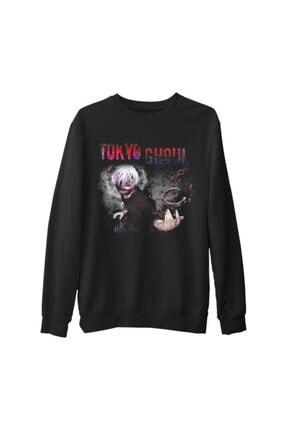 Lord T-Shirt Erkek Siyah Tokyo Ghoul Kalın Sweatshirt