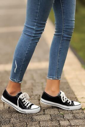 Pembe Potin Siyah Kadın Casual Ayakkabı A3232-20