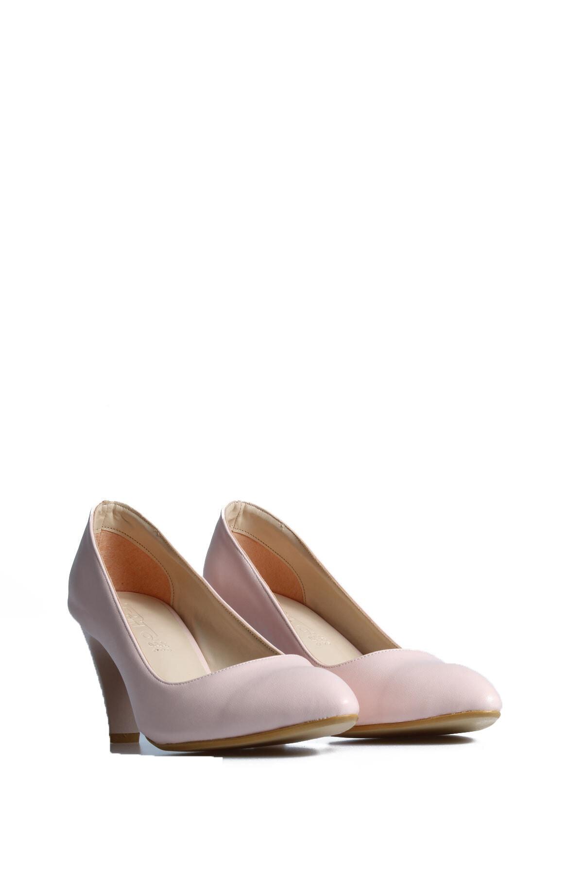 PUNTO Kadın Pudra Günlük Topuklu Ayakkabı 553009 1