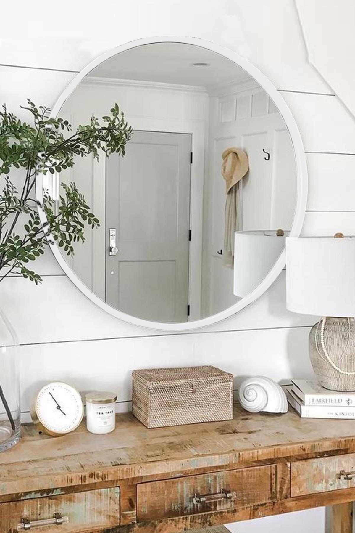 LYN HOME & DECOR Lyn Dekoratif Konsol Aynası Beyaz 2