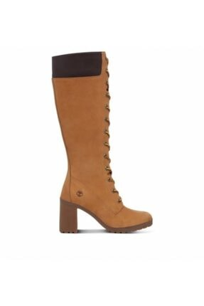 Timberland Allington 14in Side Zip Kadın Kahverengi Topuklu Bot