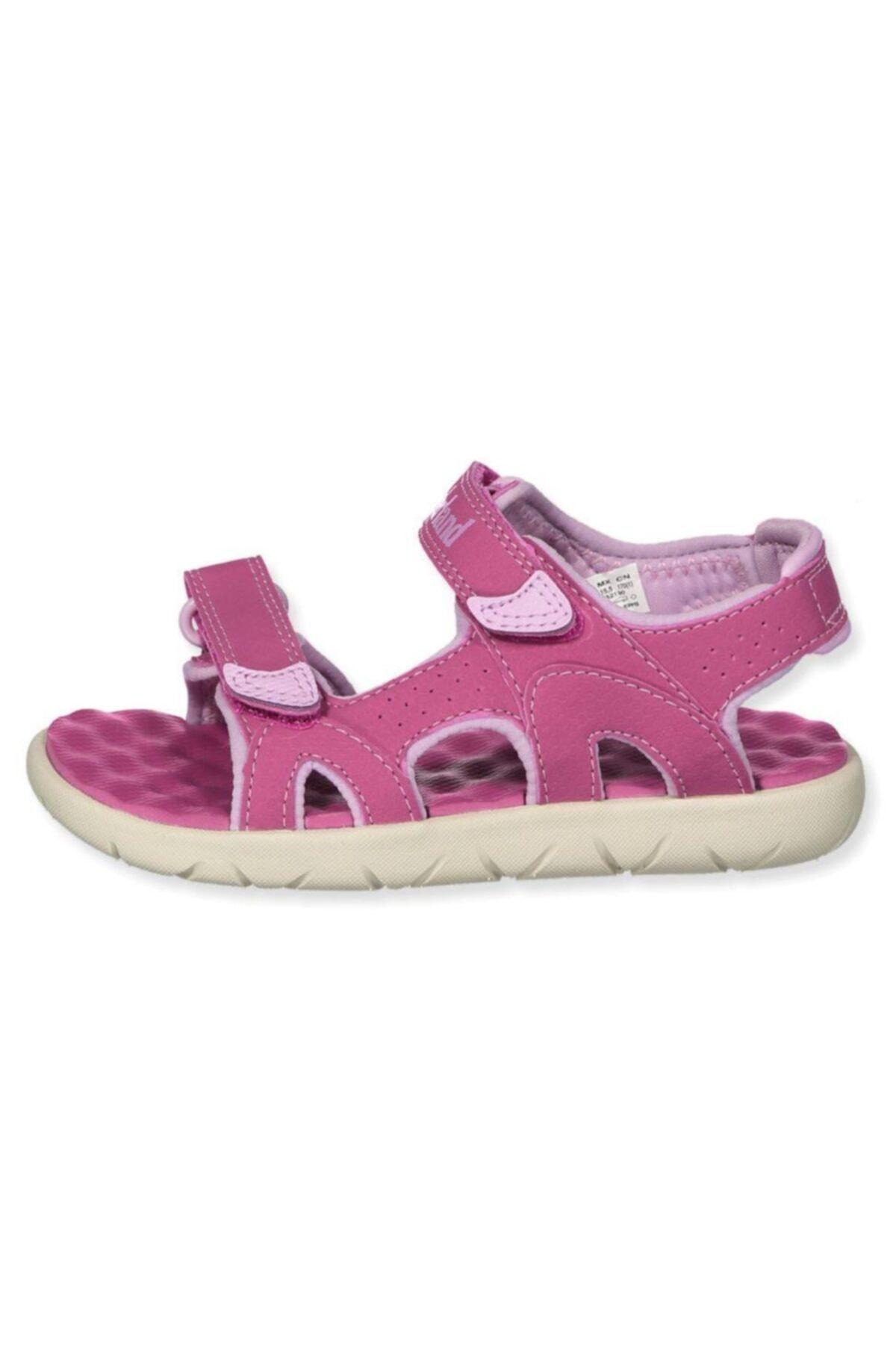 Timberland Perkins Row 2-strap Çocuk Sandalet Pembe 1