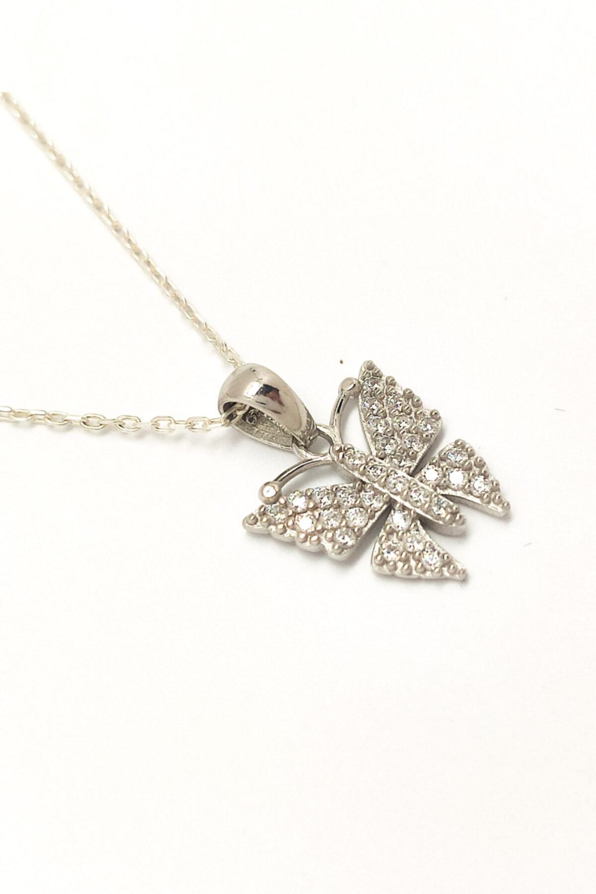 MAGNAMİNA Kadın Kelebek Gümüş Kolye 2