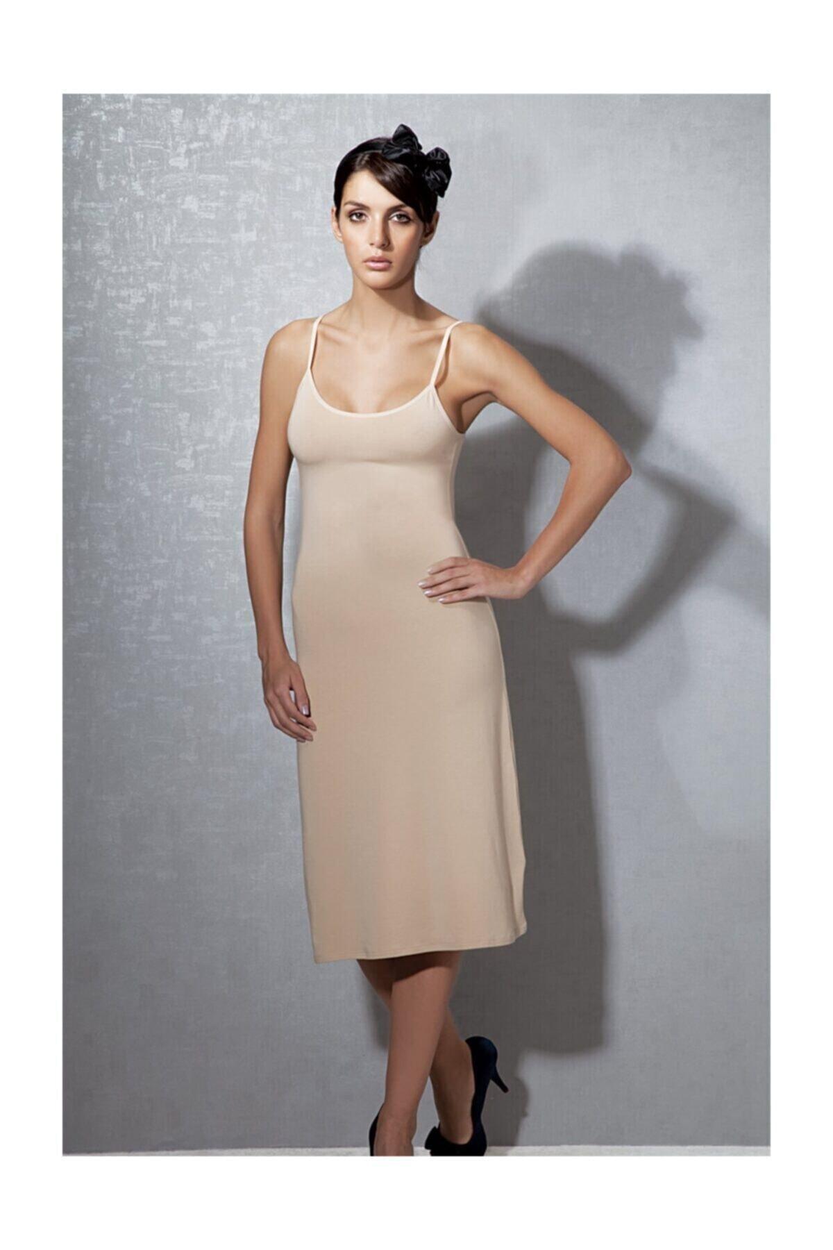 Doreanse Kadın Modal Ten Askılı Jüpon Kombinezon 11129 1