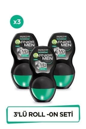 Garnier 3'lü Men Magnezyum Ultra Kuru Roll-on Erkek Deodorant Seti