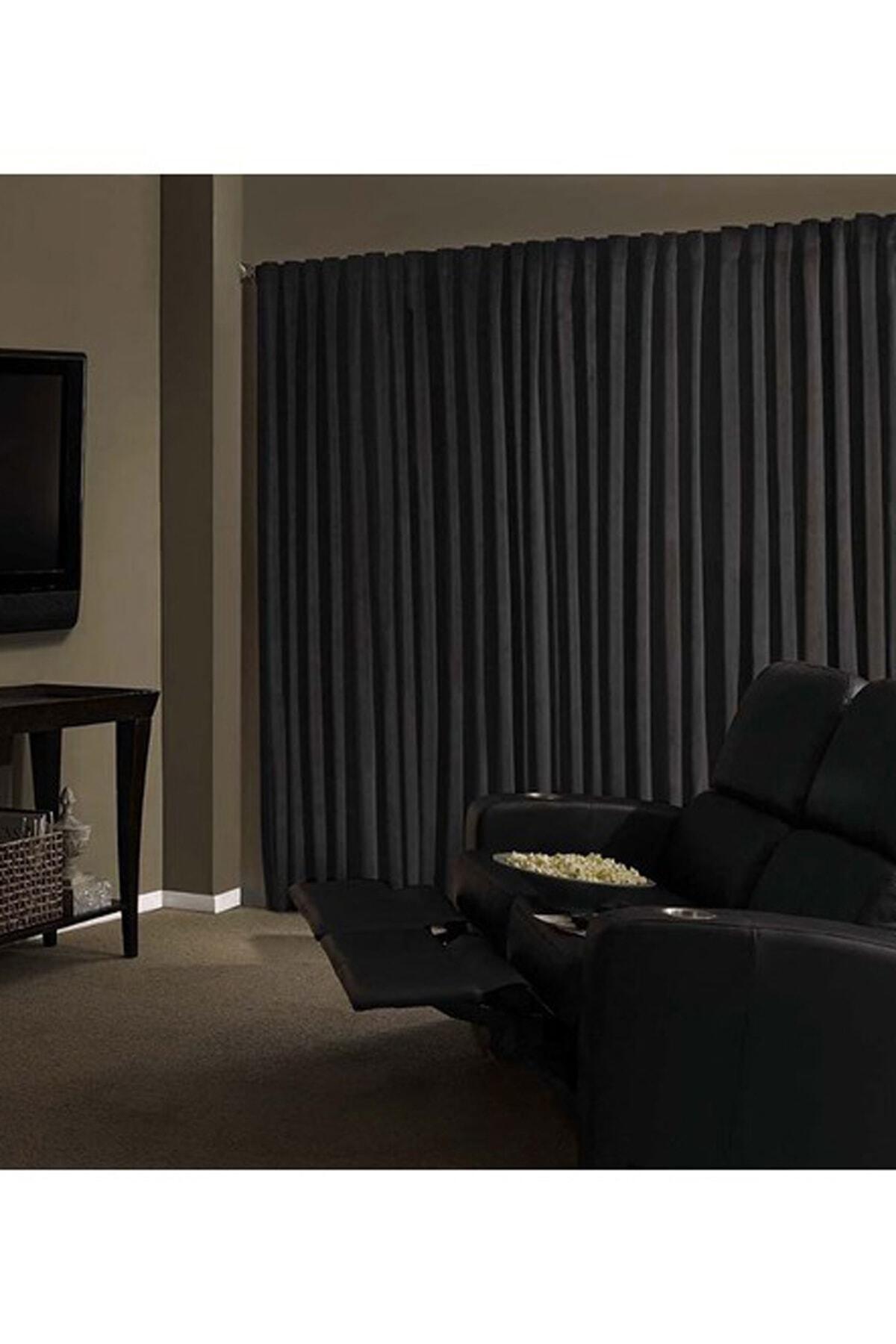 Brillant Blackout Karartma Güneşlik Perde Pilesiz Siyah Lcrblck 100x200 2