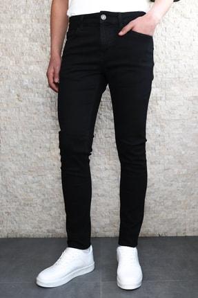 Collezione Collezıone Jeffrey Slim Fit Siyah Kot Pantolon