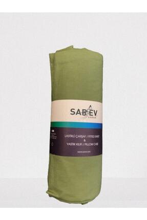 Sarev Lastikli Çarşaf Seti 180x200 cm V77-koyu Yeşil
