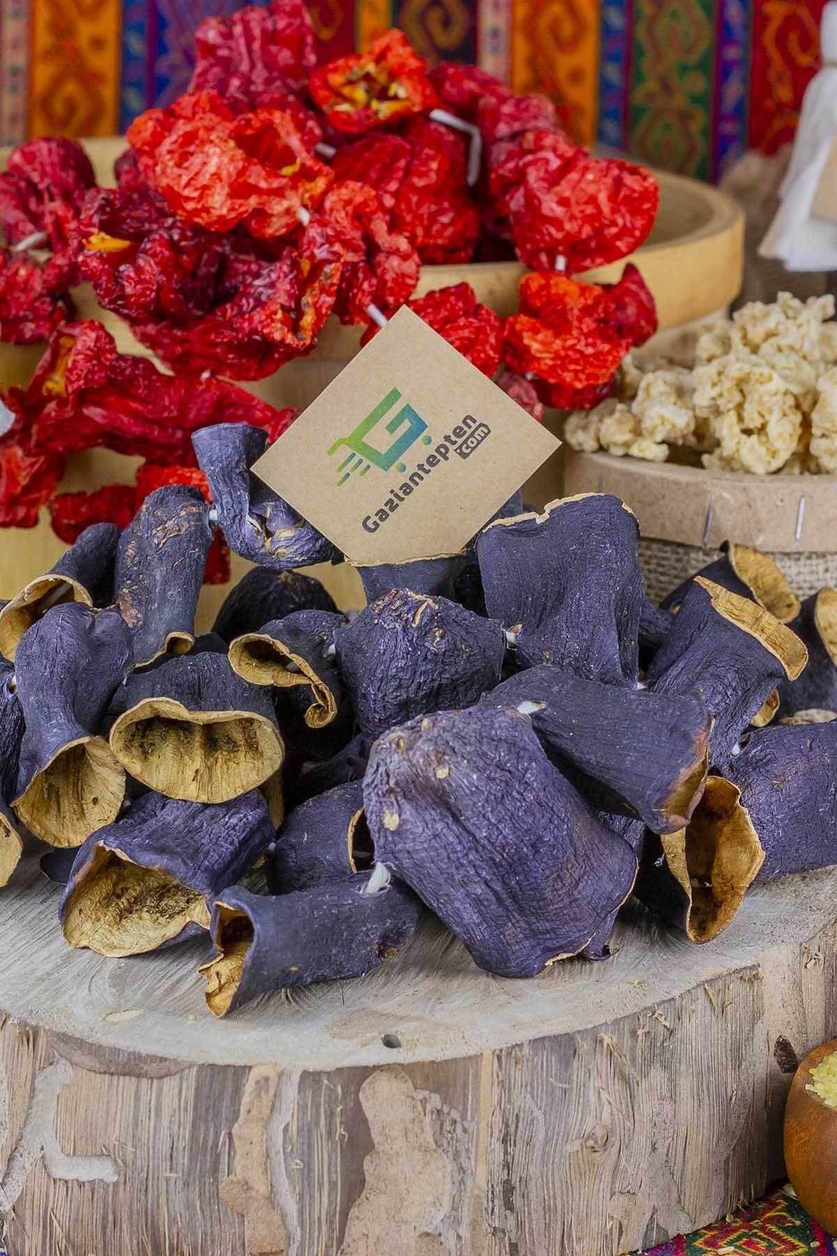 Gaziantepten Dolmalık Kuruluk Patlıcan 1 Bağ Dizi - 50 Adet 1