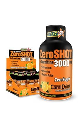 Zero Shot 60 ml 3000mg L-carnitine 12 Adet - Portakal Aroma -