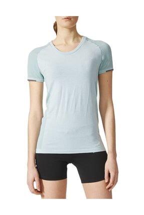 adidas Kadın Koşu Tişörtü Mavi Pknit Tee W CE5817