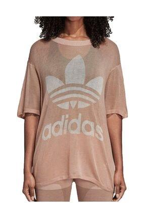 adidas Kadın T-shirt - Big Trefoil Tee - CY5845